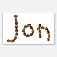 Jon Coffee Beans Rectangle Decal