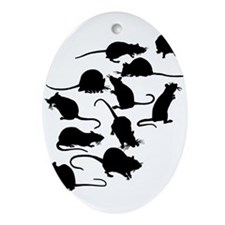 Lots Of Rats Ornament (Oval)