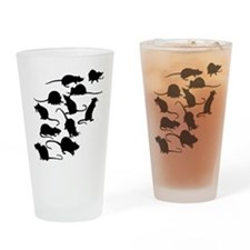 Lots Of Rats Drinking Glass