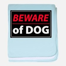 Beware Of Dog baby blanket