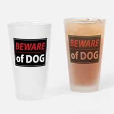 Beware Of Dog Drinking Glass