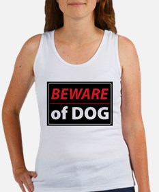 Beware Of Dog Women's Tank Top