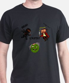 Ninjas and Pirates Unite! T-Shirt