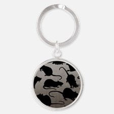Lots Of Rats Round Keychain