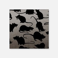 "Lots Of Rats Square Sticker 3"" x 3"""