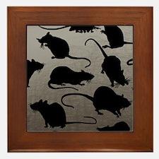 Lots Of Rats Framed Tile