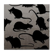 Lots Of Rats Tile Coaster