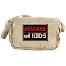 Beware Of Kids Messenger Bag