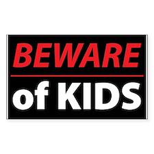 Beware Of Kids Decal