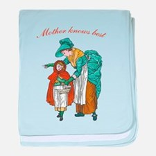 Mother Knows Best Baby Blanket