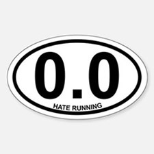 0.0 Hate Running Stickers