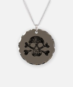 Worn Skull And Crossbones Necklace