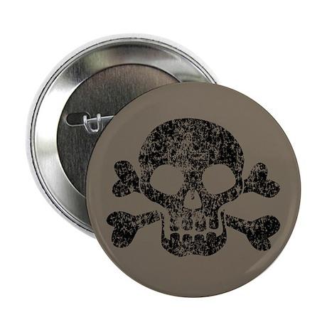 "Worn Skull And Crossbones 2.25"" Button"