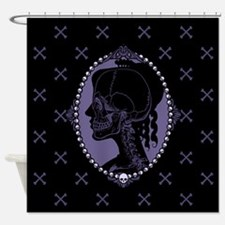 Gothic Skull Cameo Shower Curtain