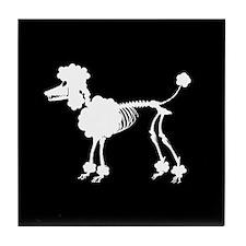 Poodle Skeleton Tile Coaster