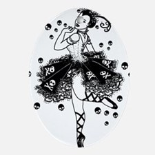 Gothic Ballerina Ornament (Oval)