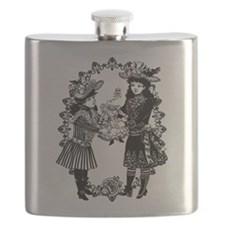 Girls With Headless Doll Flask