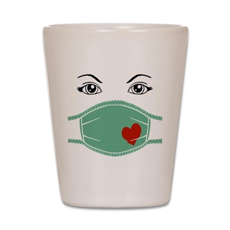 Hospital Mask Shot Glass