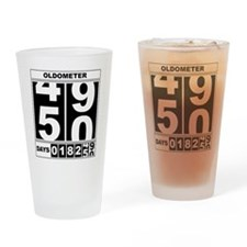 Cute Over the hill 50 Drinking Glass