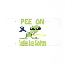 Pee On Restless Legs Syndrome Aluminum License Pla