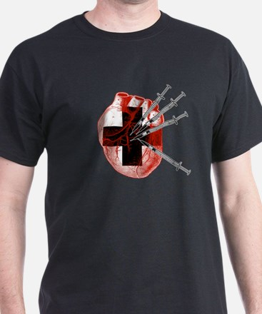 Medical Needle Stabbed Heart T-Shirt