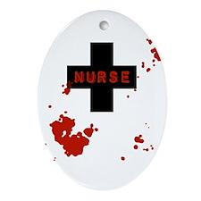 Evil Bloody Nurse Ornament (Oval)