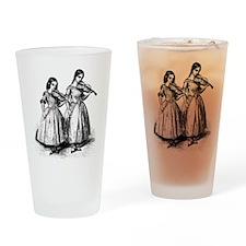 Surly Violin Girls Drinking Glass