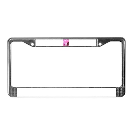 Wishing Water Pink License Plate Frame