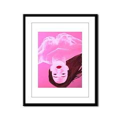 Wishing Water Pink Framed Panel Print