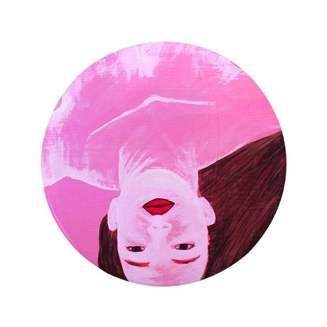 """Wishing Water Pink 3.5"""" Button (100 pack)"""
