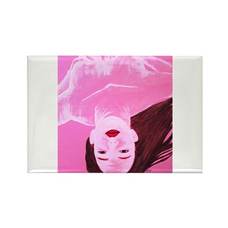Wishing Water Pink Rectangle Magnet (100 pack)
