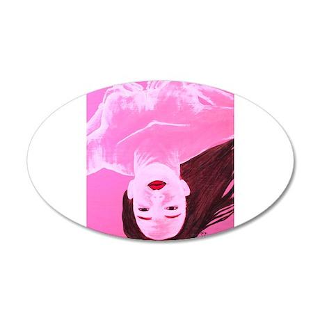 Wishing Water Pink 20x12 Oval Wall Decal