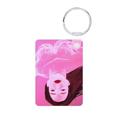 Wishing Water Pink Aluminum Photo Keychain