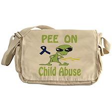 Pee on Child Abuse Messenger Bag