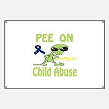 Pee on Child Abuse Banner