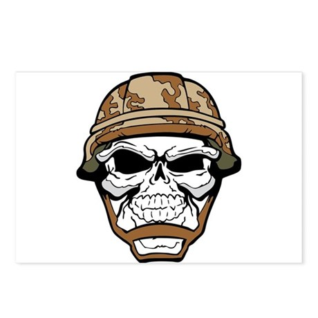 camo skull Postcards (Package of 8)
