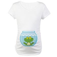 Funny Frog Fishbowl Belly Print Shirt