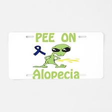 Pee on Alopecia Aluminum License Plate