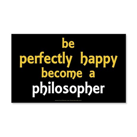 """""""Perfectly Happy Philosopher"""" 20x12 Wall Decal"""
