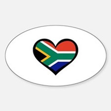 South Africa Love Heart Rectangle Decal