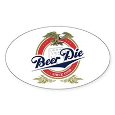 Beer Die Oval Decal