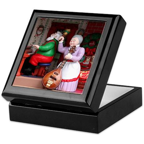 Santa and Mrs. Claus on Mandolin Keepsake Box