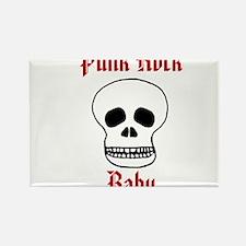 Punk Rock Baby - Skull Rectangle Magnet