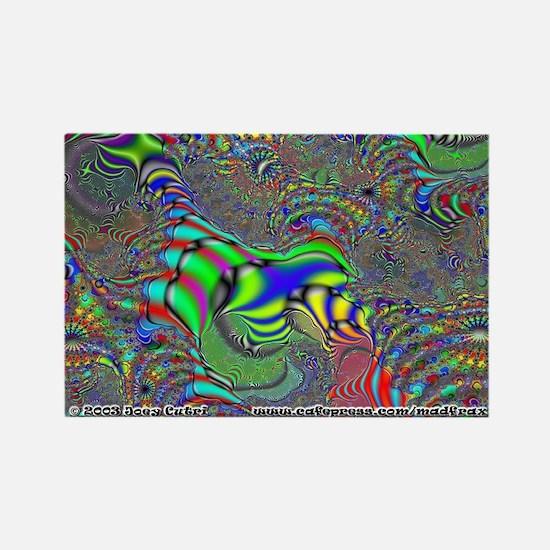 Fractal C~16 Rectangle Magnet