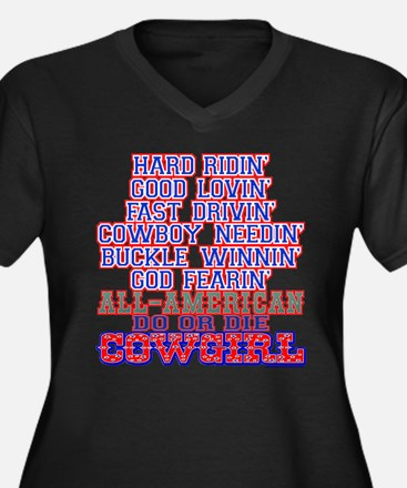 """All American Do or Die Cowgirl"" Women's Plus Size"