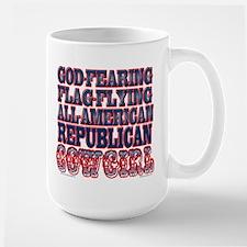 REPUBLICAN COWGIRL Large Mug