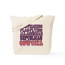 """Republican Cowgirl"" Tote Bag"