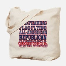 REPUBLICAN COWGIRL Tote Bag