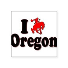 "I rodeo OREGON! Square Sticker 3"" x 3"""