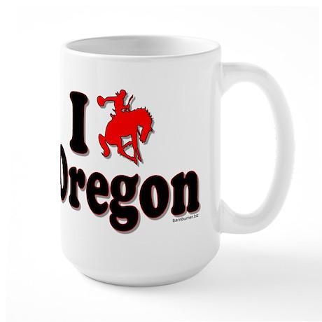 I rodeo OREGON! Large Mug